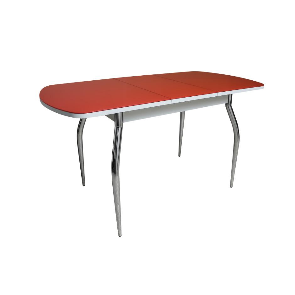Обеденный стол ПГ-01 СТ (алое белый хром разложенный)