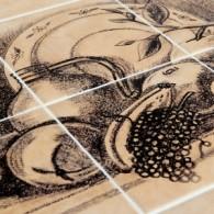 Дерево и керамика: что из себя представляют столы из керамической плитки?